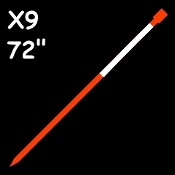 "100 ea...X9™ Reflective Markers 72"".$1.39 each    (Optic Orange)"